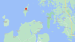 Fire crews from Beausoleil First Nations are responding to reports of a plane crash on Giants Tomb Island in Southern Georgian Bay on Tues., Aug 3, 2021. (GOOGLE)
