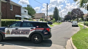 Police respond to shots fired in Kitchener in the area of Spadina Road West (Dan Lauckner / CTV Kitchener)