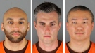 This combination of photos provided by the Hennepin County Sheriff's Office in Minnesota on Wednesday, June 3, 2020, shows from left, former Minneapolis police Officers J. Alexander Kueng, Thomas Lane and Tou Thao. (Hennepin County Sheriff's Office via AP, File)