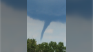 A possible funnel cloud spotted in Albuna near Ruscom, Ont. on Tuesday, Aug 3, 2021. (Viewer submitted: Tanya de Jong)