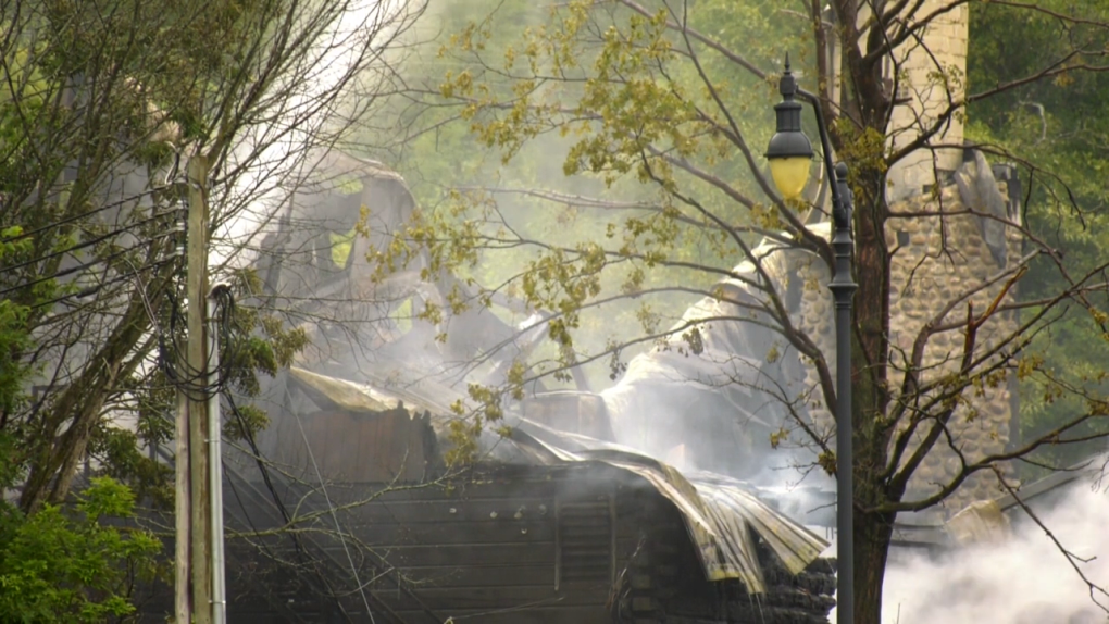 Mont Cascades chalet destroyed by fire