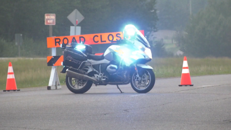 A crash in Parkland County on Monday left one man dead and a woman injured.