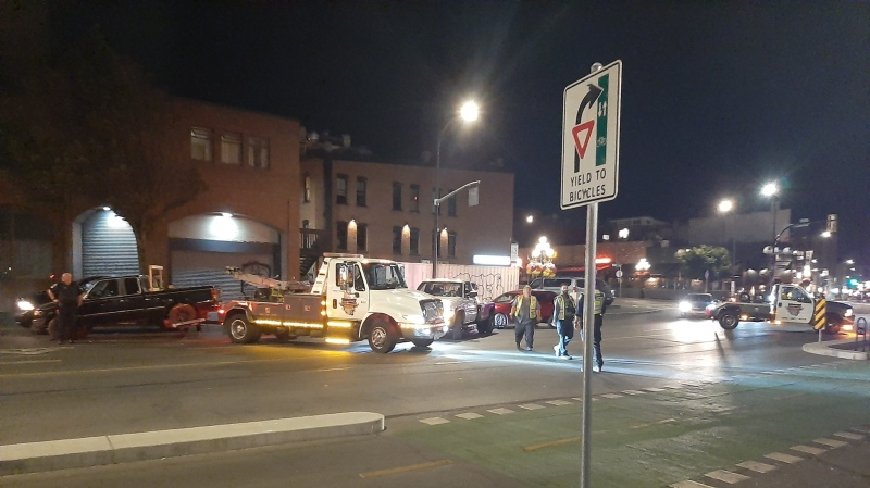 Victoria police operate an impaired driving roadblock in Victoria on July 31, 2021. (VicPD)