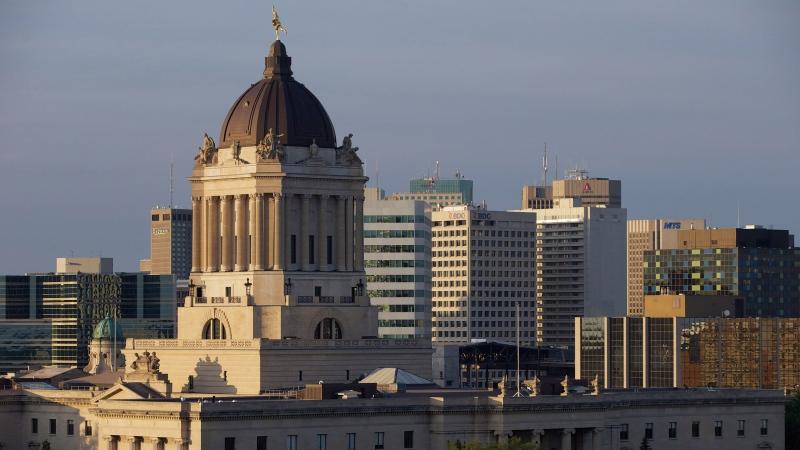 The Manitoba Legislature in Winnipeg, Saturday, August 30, 2014. THE CANADIAN PRESS/John Woods