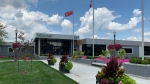 The Town of Tecumseh has reopened its town hall, recreation complex and arena for limited in person services in Tecumseh, Ont. on Tuesday, Aug. 3, 2021. (Chris Campbell/CTV Windsor)
