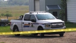 A terrifying home invasion near Red Deer resulted in one man dying Monday, when the resident of the house shot the home invader who was beating him with a baseball bat