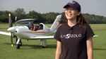 Meet a teen who wants to fly around the world solo