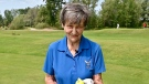 Barbara Wright, 91, scored a hole-in-one at a recent outing at Falcon Ridge Golf Club in Ottawa. Wright plays nine holes at the club three times a week. (Joel Haslam / CTV News Ottawa)z