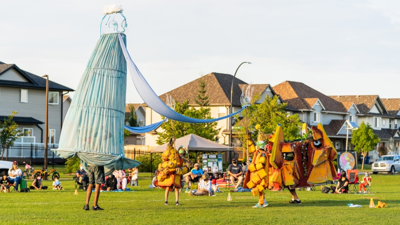 Sum Theatre has created an original story called The Other Side of the River. Performances will be taking place at parks around Regina all week long. (Courtesy: Studio D Photography)
