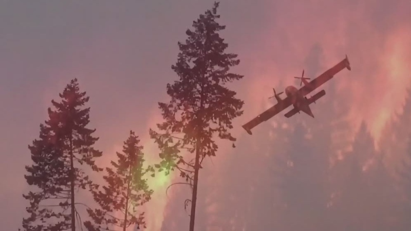 Fire forces evacuations in Mission neighbourhood