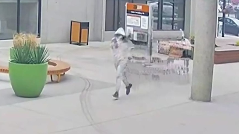 Video shows suspect in double-shooting