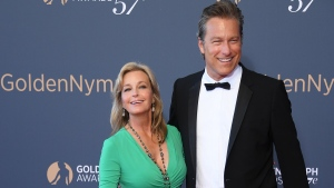 Bo Derek and John Corbett, pictured together in June 2017, are finally married after 20 years together. (Stephane Cardinale/Corbis/Getty Images)