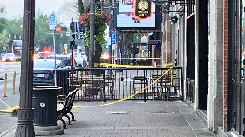 A portion of Whyte Avenue was closed early Aug. 4, 2021, for a police investigation into a person's death.