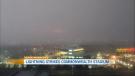 Lightning during a storm on Aug. 3, 2021, struck Edmonton's Commonwealth Stadium. Courtesy: Richard Wood