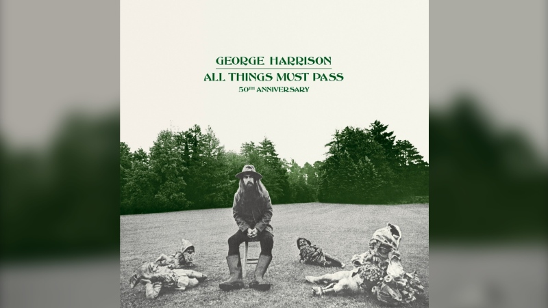 """Harrison's landmark album """"All Things Must Pass"""" is celebrating its belated 50th anniversary this year. The original 23-track album — complete with hits """"Isn't It a Pity,"""" """"What Is Life"""" and """"My Sweet Lord"""" — has been remixed for the anniversary editions from Capitol/UMe and are now augmented with 47 demos and outtakes, 42 of them previously unreleased. (Capitol/UMe via AP)"""