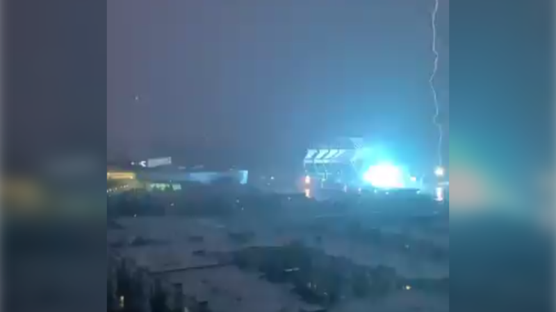 Lightning strike at Commonwealth