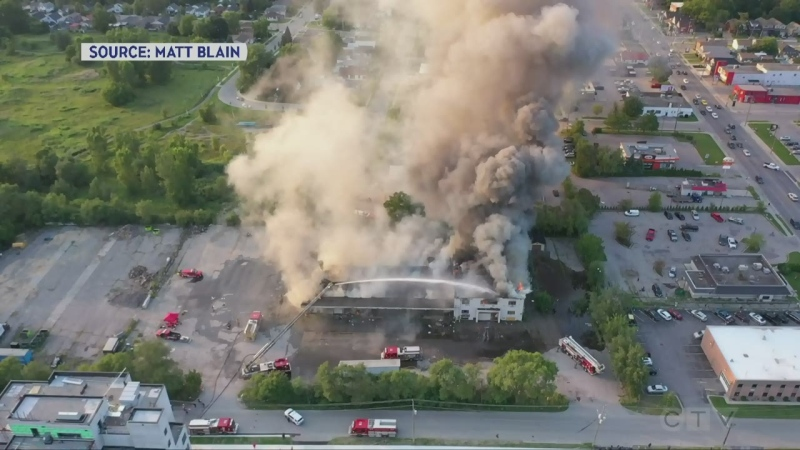 Vacant building fire in London, Ont.