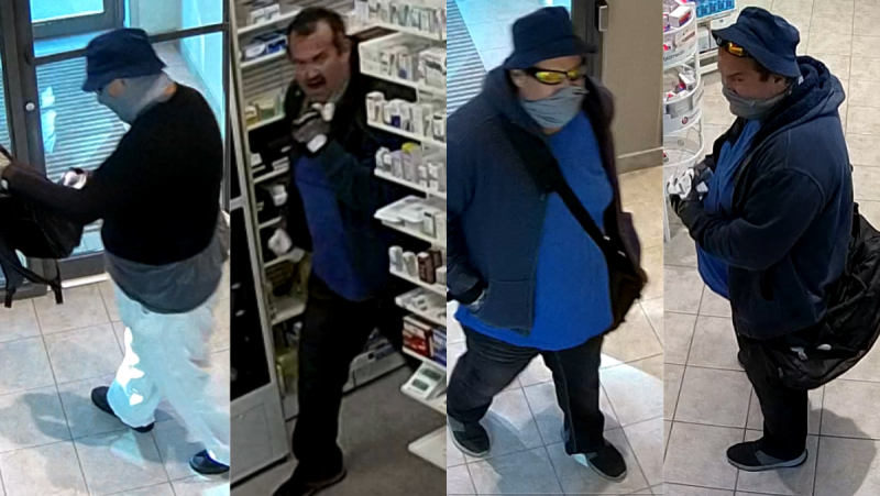 Montreal police (SPVM) are looking for two suspects after a violent robbery in an East Montreal pharmacy where staff members were tied up and assaulted with a knife. SOURCE: SPVM