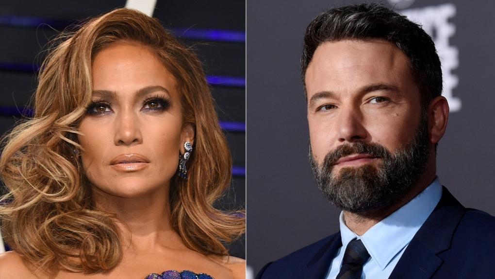 Jennifer Lopez, left, and Ben Affleck