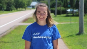 Ruby Pilatzke of Petawawa will walk from Arnprior to Petawawa this weekend to raise money for the Juvenile Diabetes Research Foundation.