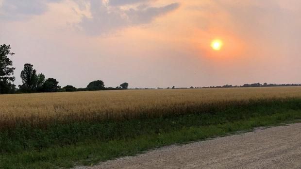 Smokey sun. Photo by Kirstyn Hlady.