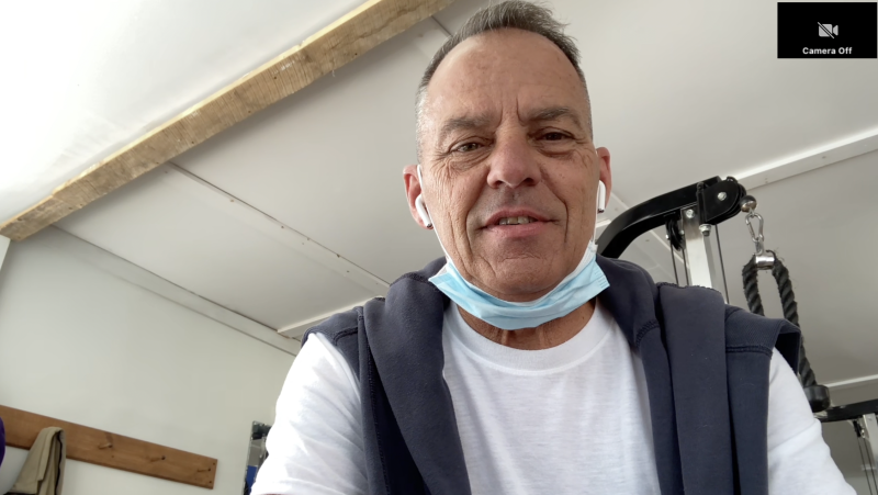 Alan Gauthier, owner of Athletica Lac-Brome, will require customers to prove they've been vaccinated against COVID-19 in order to use his gym in southern Quebec. (Joe Lofaro/CTV News)