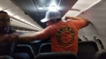 Violent Frontier Airlines passenger taped to seat