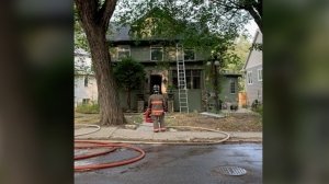 Just after 6 a.m. Wednesday, crews were called to the home in the 100 block of Poplar Crescent in the Nutana neighbourhood. (Saskatoon Fire Department)