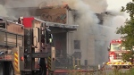 Clean-up continues after abandoned building fire