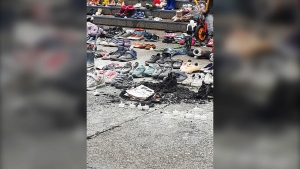 Calgary police are investigating after someone set the residential school memorial on fire Tuesday, Aug. 3, 2021