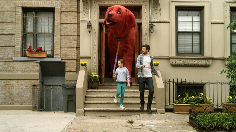 """Darby Camp, left, and Jack Whitehall star in """"Clifford the Big Red Dog"""" from Paramount Pictures are shown in this handout image. THE CANADIAN PRESS/HO-Courtesy Paramount Pictures"""