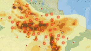 Wildfires leading to evacuations