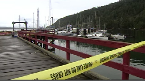 Investigators scoured Ford's Cove Marina Thursday for clues in the death of Tempest Grace Gale. Nov. 19, 2009.