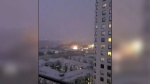 Lightning strikes near Commonwealth Stadium