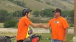 Cyclist honours residential schools survivors