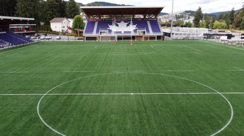 Starlight Stadium, the home of Pacific FC, is shown. (CTV)