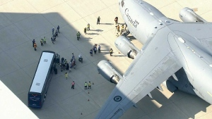 Afghan evacuee flight
