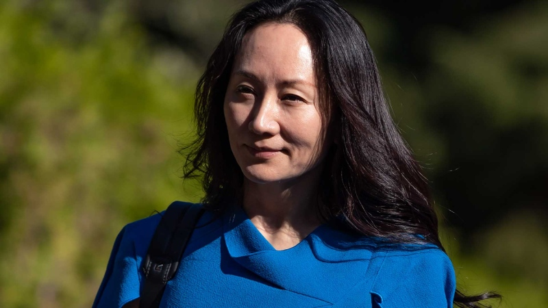 Meng Wanzhou, chief financial officer of Huawei, leaves home to attend her extradition hearing at B.C. Supreme Court, in Vancouver, B.C., Wednesday, Aug. 4, 2021. THE CANADIAN PRESS/Darryl Dyck