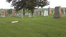 A human bone was found near this cemetery in Springwater Twp. (Kaitlyn Wilson/CTV News)