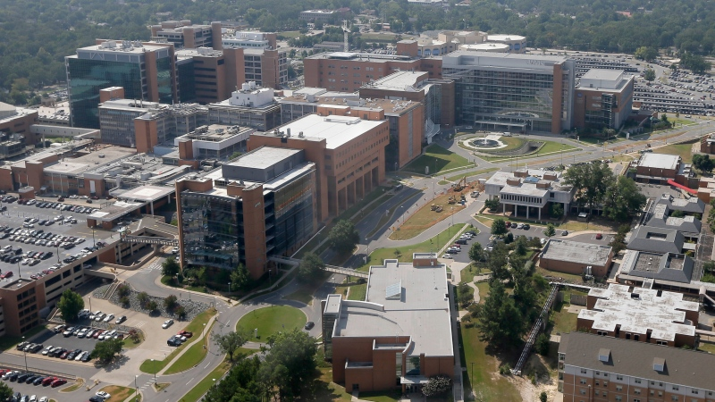 Staffing shortages are affecting morale to the point that some employees are walking off on the job in the middle of their shifts, said Dr. Cam Patterson, UAMS chancellor and pictured, UAMS in Little Rock in 2015.