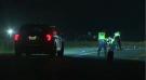 Waterloo regional police investigate the scene of a fatal crash in Wellesley Township. (Adam Marsh/CTV Kitchener) (Aug. 5, 2021)