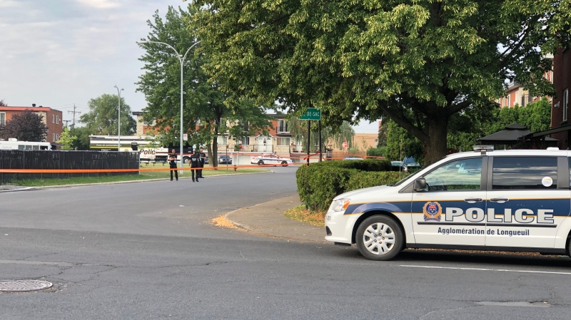 Longueuil police is investigating after a man was shot inside his home.