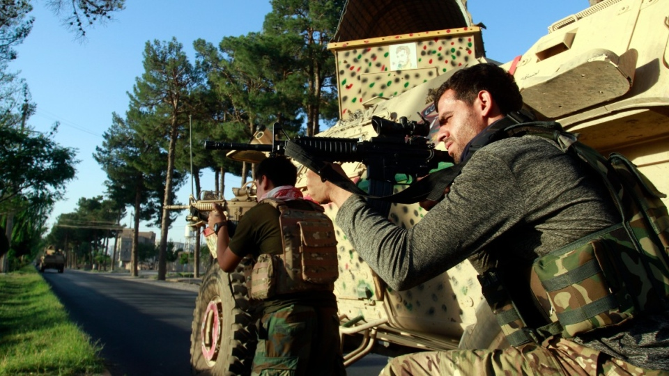 Afghan security personnel in Herat, west of Kabul