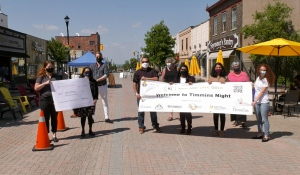 Kirkland Lake Gold, a mining company in Kirkland Lake with an office in Timmins, donated $3,000 to the 28th Annual Welcome to Timmins Night, which will take place outside in Downtown Timmins this August. (Lydia Chubak/CTV News)