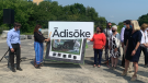 The new Ottawa Public Library – Library and Archives Canada joint facility named Ādisōke. (Jackie Perez/CTV News Ottawa)