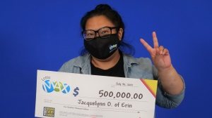 Jacquelynn Onilla won $500,000 in a lottery (Supplied: OLG)