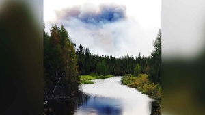 Wildfire near Lynn Lake Manitoba. Photo by Lorne Erickson.