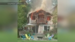 Vacation cottage destroyed by fire