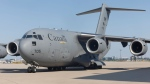 A Canadian military plane sits on the tarmac at Pearson International Airport on Wednesday, Aug. 4, 2021. (Source: Government of Canada)