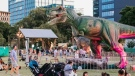 """Jurassic Fest Montreal was sold by its promoter as an outdoor, weeklong """"mesmerizing, world-class dinosaur exhibition featuring over 20 life-size animatronic, robotic dinosaurs."""" (Source: Jurassic Fest Montreal/Facebook)"""